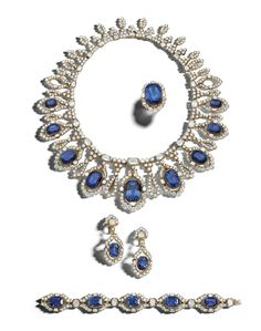 A Highly Important Suite of Gold, Sapphire and Diamond Jewelry, Alexandre Reza