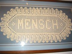 Custom Crocheted Name Doilies by annsneedleworks on Etsy, $26.00