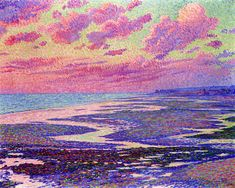 The Beach at Ambleteuse at Low Tide  Theo van Rysselberghe