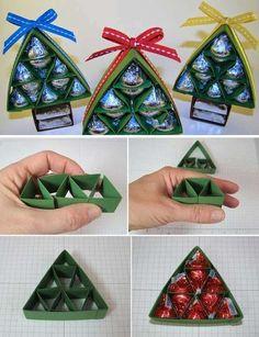 Scatola natalizia per cioccolatini