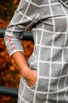 Na Prošikulky najdete desítky střihů, toto jsou dámské zimní nebo podzimní šaty. Dress Link, Dress Sewing Patterns, Pattern Dress, Couture Sewing, Sweatshirt Dress, Fashion Sewing, Winter Dresses, Fall Winter, Lady