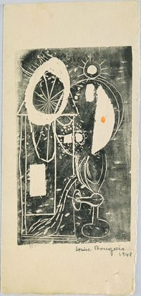 The Burner, state III  1948, Engraving w/ crayon  MOMA