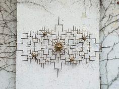 Vintage Brutalist Brass and Metal Sculpted Art