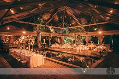 clear top tent over pool and seating :: photo by @daphoto planning by Social Scene