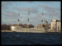 Ship on the Neva River.