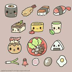 Sushi ~by Chichi Romero ~Little Miss Paintbrush @ www.littlemisspaintbrush.com / Instagram@chichilittle www.facebook/Japan LoverMe/Photos