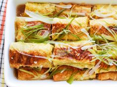 Chinese Bean Curd Rolls Stuffed With Pork, Mushroom, and Ginger  Smooth and a little sweet with a mild soybean flavor, fresh bean curd skin is a delicacy. At dim sum houses, it's often stuffed with a mixture of ground pork with mushrooms and ginger, then bathed in a mild yet rich chicken-stock-based sauce. While it's typically a breakfast item, these rolls also make a good dinner dish when served with rice alongside.