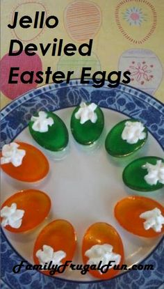 Make the only deviled eggs kids will eat!  Jello deviled Easter eggs!