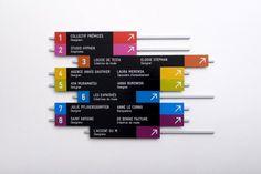 Sinalização Palette | Núcleo de Design Gráfico Ambiental - NDGA                                                                                                                                                                                 Mais