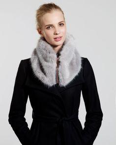 Faux fur collar - Ash   Scarves   Ted Baker UK
