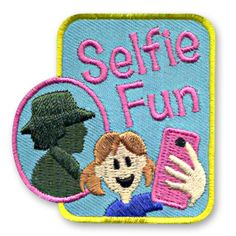 Our Selfie Fun patch has the reflection of Juliette Gordon Low - the Founder of Girl Scouting. As, we are out in the world taking selfies, it is my sincere hope that the reflections back from my fellow Girl Scout Sisters are the principals of Juliette. http://www.snappylogos.com/Selfie-Fun-Patch/productinfo/3847/
