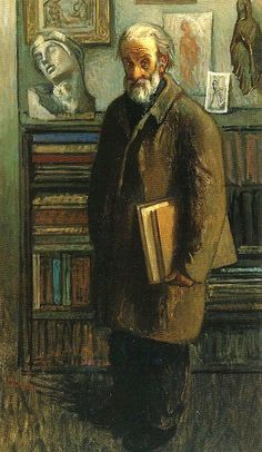 The Lover Of Books - Moses Soyer
