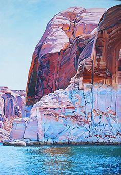 Time Passages, 40x30, Oil by Ron Larson Oil ~ 40 x 30, Lake Powell