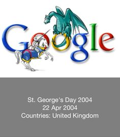 St George's Day 2004 - Google Doodle