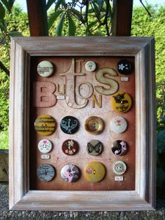 Knoflíková senzace Wood Watch, Frame, Tutorials, Buttons, Home Decor, Art, Wooden Clock, Picture Frame, Art Background