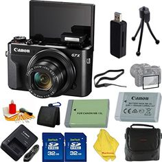Introducing Canon PowerShot G7 X Digital Camera  Case  2pcs 32 GB Card  Reader  6pc Starter Set  Extra Battery. Great Product and follow us to get more updates!