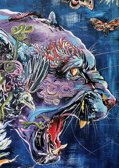 Moon Jaguar (close-up) from Toronto's DOS show - art by Jacqui Oakley