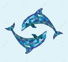 "Képtalálat a következőre: ""dolphin illustration"" Geometric Drawing, Geometric Art, Dolphin Drawing, Dolphins Tattoo, Different Art Styles, Shape Art, Australian Animals, Masks Art, Pottery Designs"