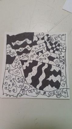 Finished zentangle 9/19