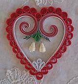 Dekorácie - Vianočná dekorácia - červené srdce so zvončekami - 7440950_
