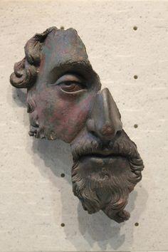 Fragment of a bronze face of the emperor Marcus Aurelius (Louvre, Paris).