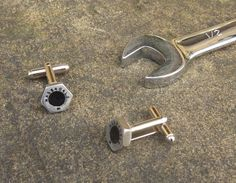 GOT THIS - Titanium Formula 1 bolt cufflinks made using Honda by LedonGifts £32 incl delivery