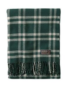 THOMAS KAY WEAVER'S PLAID THROW/CARRIER in gray by Pendelton on sale now for $89