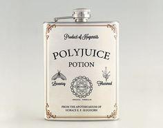 Polyjuice Potion - Harry Potter Liquor Hip Flask, Stainless Steel Flask 6 oz / 8 oz FK0599