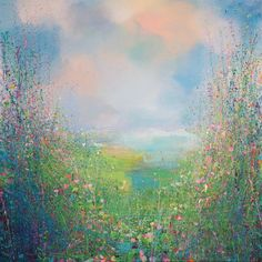 "Saatchi Art Artist Sandy Dooley; Painting, ""Flower Field  (sold)"" #art"