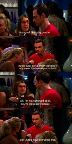 The Big Bang Theory, the most awkward couple Sheldon & Amy.