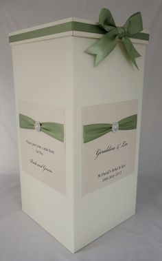 Wedding Card Post Box In Meadow Green
