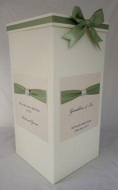 Wedding Card Post Box in Meadow Green