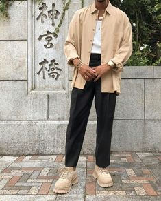 black or nude? Best Mens Fashion, Boy Fashion, Fashion Outfits, Look Man, Minimal Outfit, Layering Outfits, Aesthetic Clothes, Urban Aesthetic, Men Looks