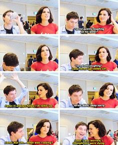 The whole cast have amazing relationships.