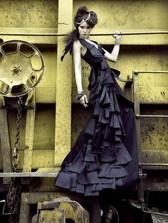 High-fashion Industrial Shoot by Rachael Christine, via Flickr