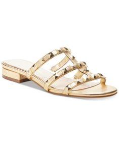 Caira Studded Flat Sandals | macys.com Unisex Baby Clothes, Baby Clothes Shops, Studded Sandals, Flat Sandals, Jessica Simpson Style, Flip Flop Shoes, Flip Flops, Valentino Rockstud, Mens Gift Sets