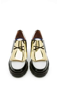 @jeffreycampbell Lester Plated Oxford