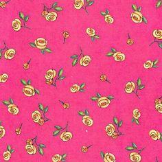 Mary Engelbreit Fabric: Sleeping Beauty Tossed Roses Fabric - Pink