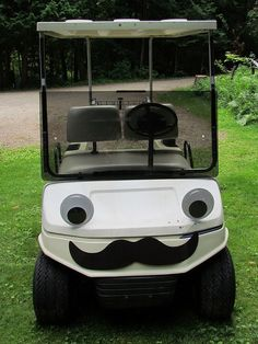 Take a gander at this amazing application of our Giant Googly Eyesand Jumbo Mustache Magnet! That golf cart looks downright dapper. So far,gnuis responsible for the best customer picture featuring the Giant Googly Eyes. Unless you have a better one? Email us your pictureor post it on Tumblr and tag it Archie McPhee!  [viaMust Dash…..my new ride]