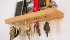 Brandon Knowlden is raising funds for Rackless – the key rack that makes your keys float in midair on Kickstarter! Rackless combines a magnetic key rack with a floating shelf, effortlessly suspending up to 150 keys in mid air.