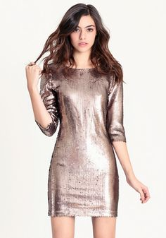 Sequin Dress by BB Dakota #newyears    Sooo beautiful! Maybe a dress for Little Missy one day?