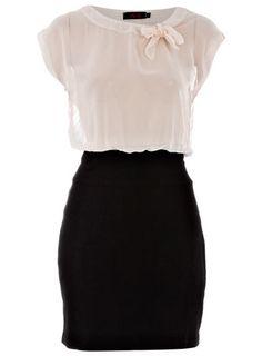 Black/cream 2in1 bow dress Dortothy Perkins! I LOVE LOVE THIS