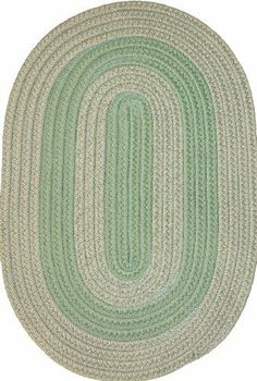 """Veranda 9'6"""" x 13'6"""" Braided Rug in Lime Green & Tan Tweed by Constitution Rugs LLC. $707.10. 100% polypropylene double flat braid construction. Reversible for added wear. indoor/outdoor braided rug. Manufactured 100% in the U.S.A. The """"everywhere-rug"""" perfect for patio, poolside, boat and dock, porch or balcony, and garage, as well as indoor den, kitchen, family room etc!"""