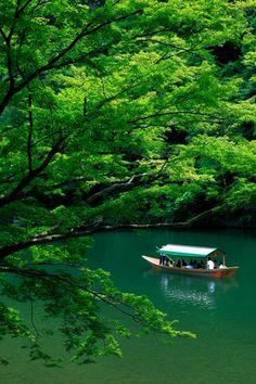 Summer landscape of Arashiyama, Kyoto, Japan