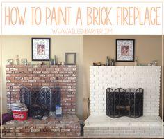 How to Paint a Brick Fireplace // AileenBarker.com
