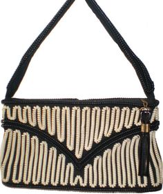 RING a Ding DinG 1950's Black and White Telephone Cord Purse