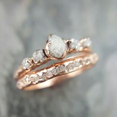 10 Jaw-Dropping Rose Gold Engagement Rings That You (Probably) Haven't Seen Before | Intimate Weddings - Small Wedding Blog - DIY Wedding Ideas for Small and Intimate Weddings - Real Small Weddings #weddingringsgoldsmall