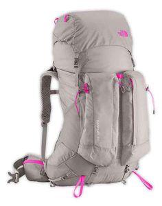 The North Face Banchee 50 Q-Silver Grey / Glo Pink Woman. Sacs à dos et bagages, Sacs à dos 50 litres acheter et offres sur Trekkinn