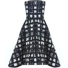 Alice + Olivia Lan Sleeveless Bodice A-line Dress ($698) ❤ liked on Polyvore