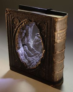 Landscape carved into a book.